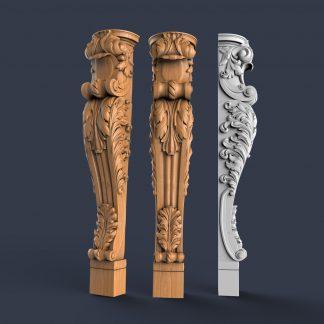 طرح سه بعدی چوب-مدل منبت سر ستون-مدل cnc سنگ-سر ستون اماده