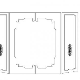 طرح دو بعدی کمد لباس-طرح دوبعدی cnc-طرح دو بعدی سی ان سی