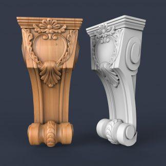 طرح سه بعدی سر ستون و پایه جزیره-پایه جزیره آشپزخانه