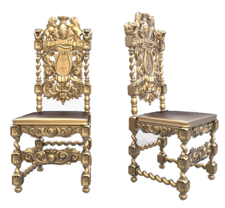 طرح سه بعدی سی ان سی-مدل منبت صندلی ۱۰-دانلود طرح سه بعدی