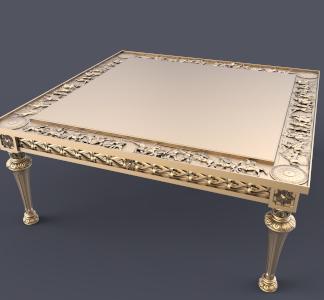 طرح سه بعدی میز چوبی-میز ورساچه -میز چوبی