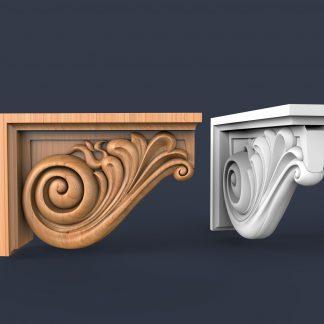 طرح سی ان سی سر ستون-طرح سه بعدی سر ستون-سر ستون سنگی-طرح براکت-براکت سه بعدی