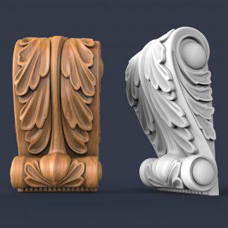 طرح سه بعدی سر ستون-طرح سی ان سی-طرح سه بعدی cnc-خرید طرح سه بعدی cnc