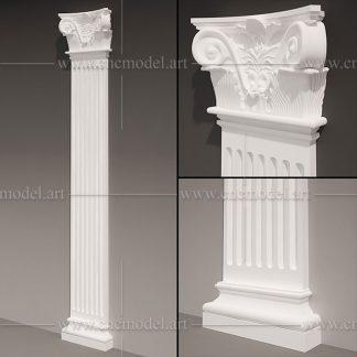 طرح سه بعدی CNC ستون با فرمت max
