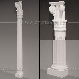 طرح سه بعدی CNC ستون