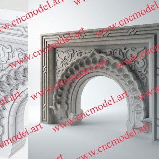 طرح سه بعدی CNC شومینه