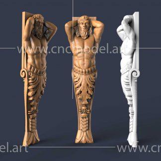 طرح سه بعدی CNC سرستون