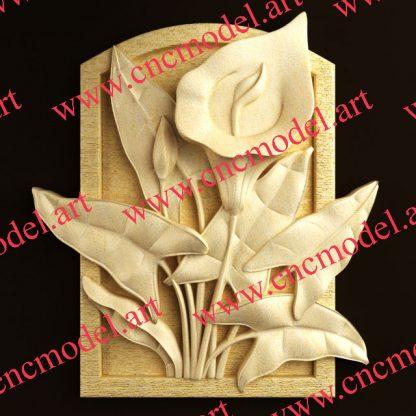 طرح سه بعدی CNC تابلو گل