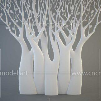 طرح سه بعدی CNC تابلو درخت
