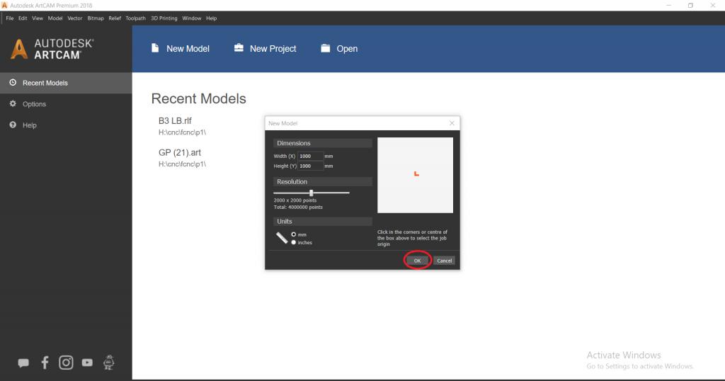 شکل 2- تنظیمات ایمپورت فایل سه بعدی در آرتکم 2018